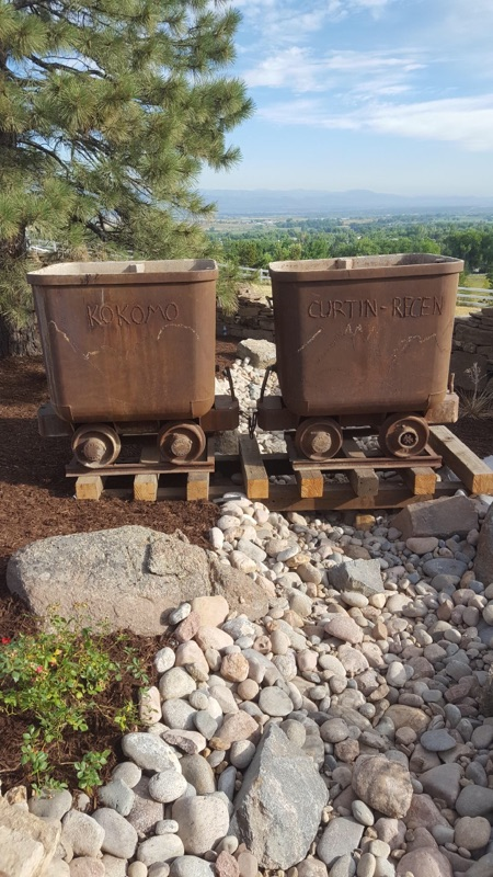 Two ore cars featured in Boulder landscape design project