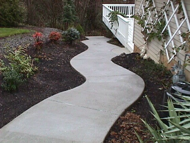 Curves add elegance to this concrete walkway in Longmont
